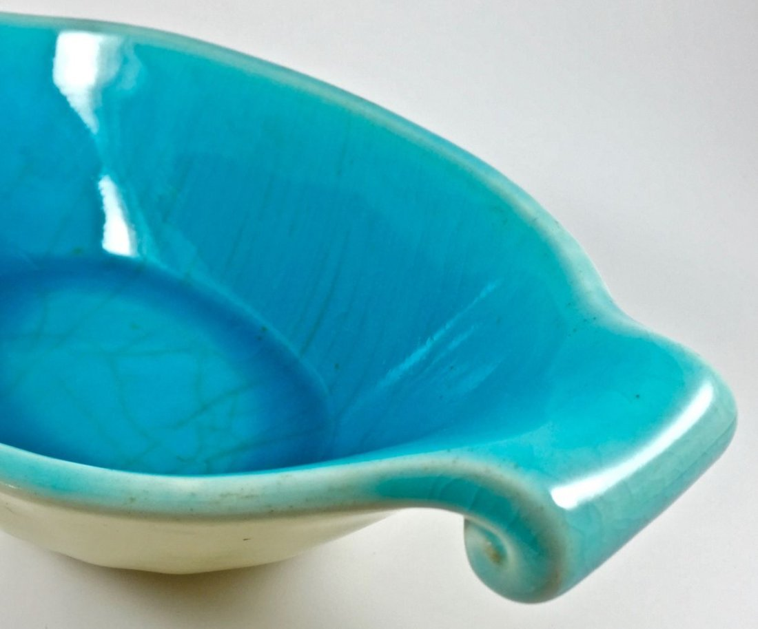 Lovely Rookwood Oval Turquoise Centerpiece Bowl - 9