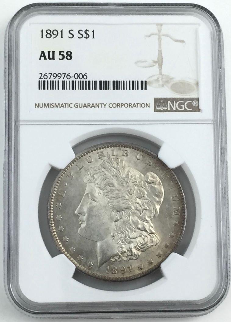 1891-S NGC Morgan US Silver Dollar Coin