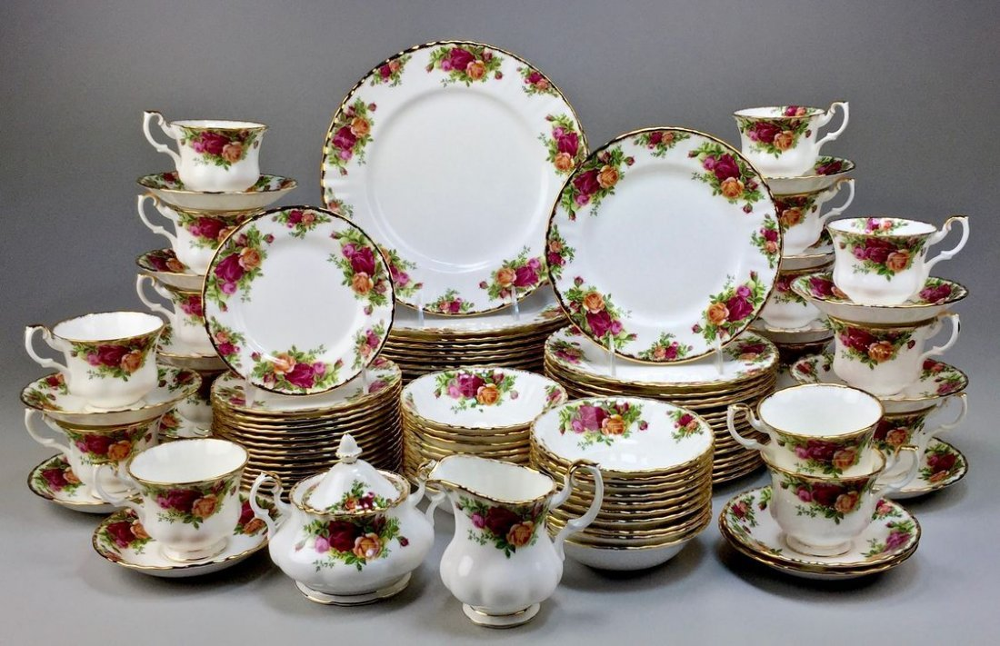 Royal Albert Bone China England Country Rose 5-piece, - 2