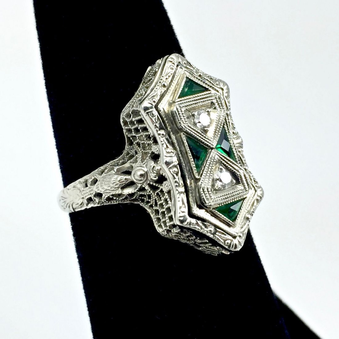 Art Deco Belais 14k Filigree Dragonfly Ring