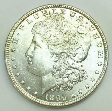 1896 Morgan US Silver Dollar Coin