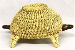 Native American Papago Tohono O'odham Turtle Basket
