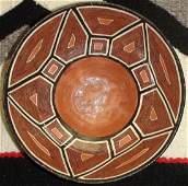 Antique Peruvian Shipibo Pottery Bowl 3 X 7 1/2 Inches