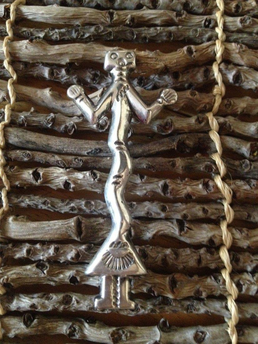 Native American Navajo Sterling Silver Yei Brooch Pin
