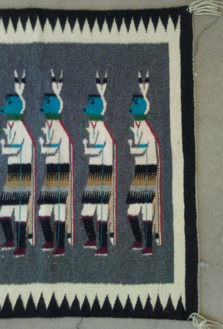 Native American Navajo Yeibechai Wool Rug Shiprock - 3