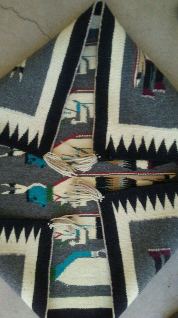 Native American Navajo Yeibechai Wool Rug Shiprock - 4