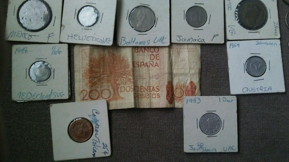 Antique World Coin Paper Currency Collection Canada - 2