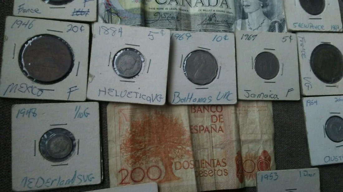 Antique World Coin Paper Currency Collection Canada - 4