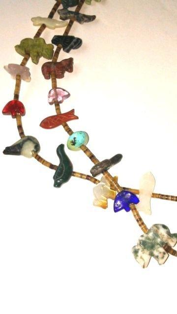 Native American Santo Domingo 2 Strand Heishi Necklace - 3