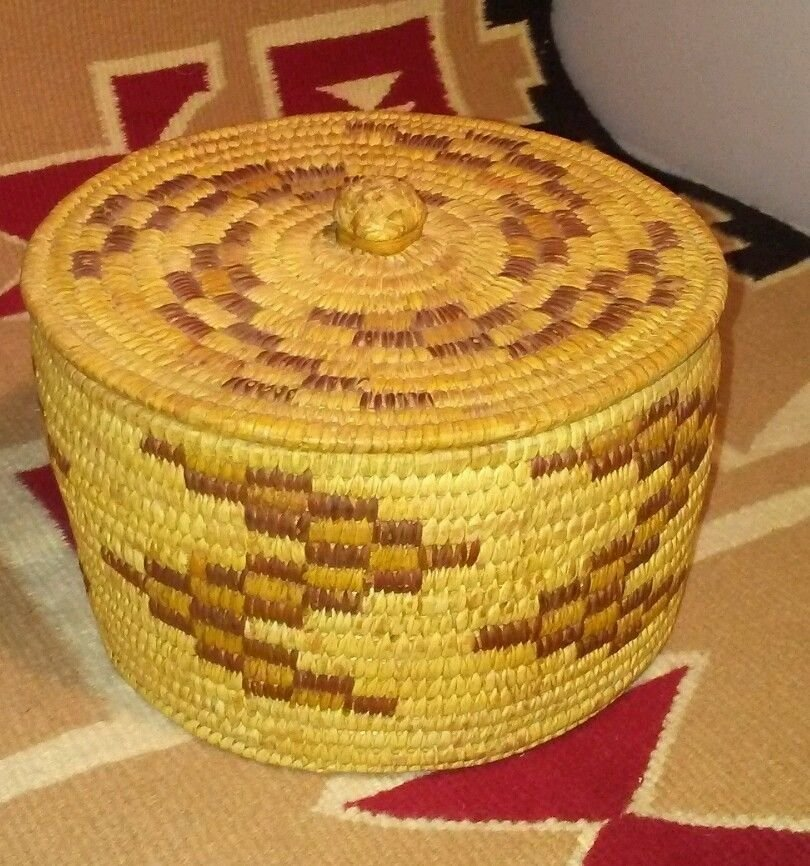 Antique Native American Pima Hand Woven Basket