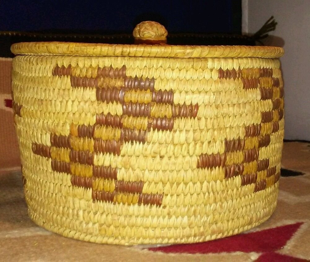 Antique Native American Pima Hand Woven Basket - 2