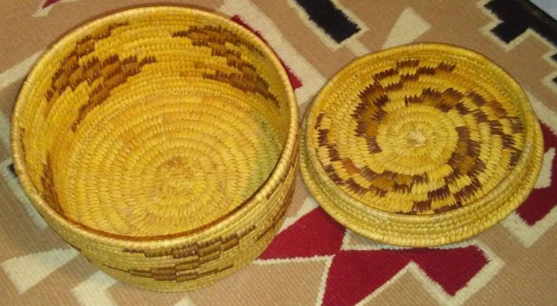 Antique Native American Pima Hand Woven Basket - 3
