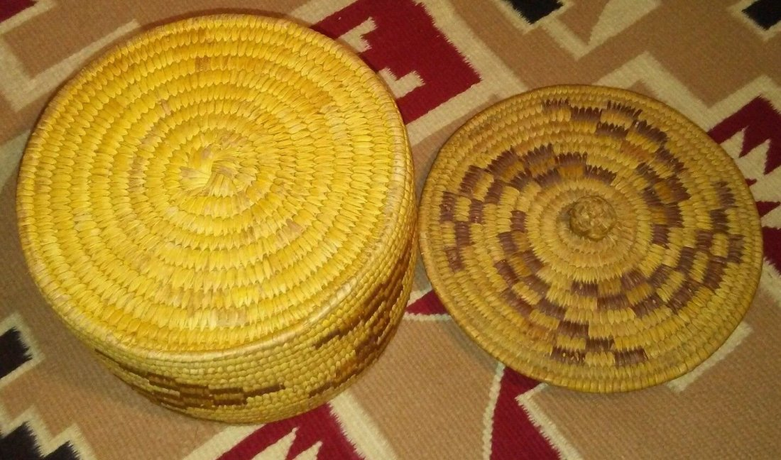 Antique Native American Pima Hand Woven Basket - 4