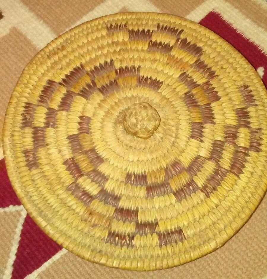 Antique Native American Pima Hand Woven Basket - 5