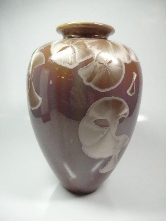 Gorgeous Studio Art Pottery Brown Tan Crystalline Glaze - 2