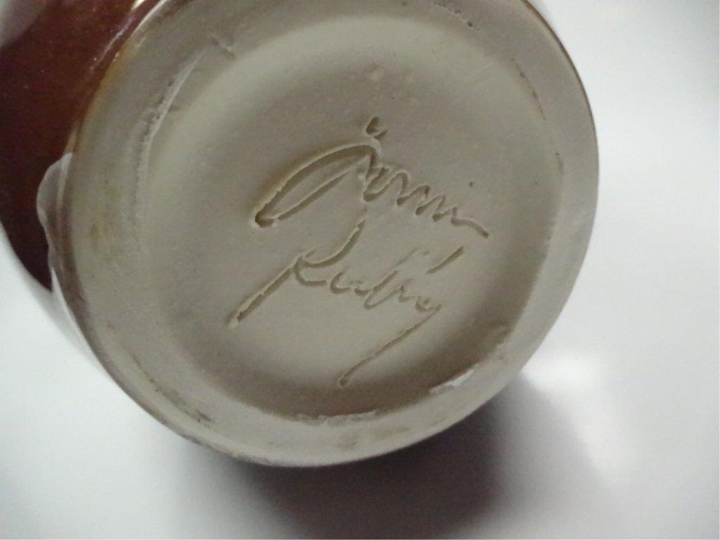 Gorgeous Studio Art Pottery Brown Tan Crystalline Glaze - 4