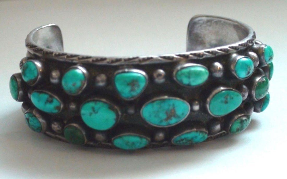 Native American Navajo Sterling Turquoise Bracelet
