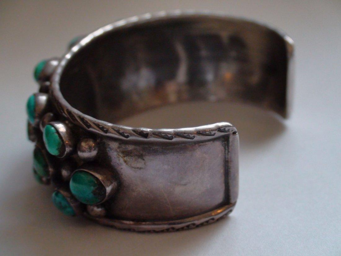 Native American Navajo Sterling Turquoise Bracelet - 5