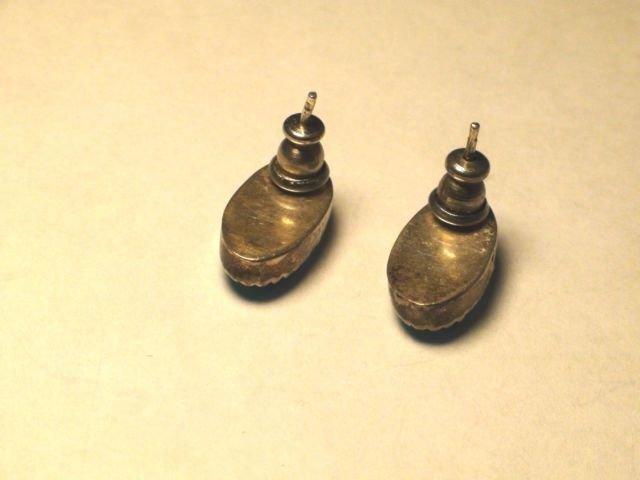 Native American Navajo Sterling Turquoise Earrings - 2