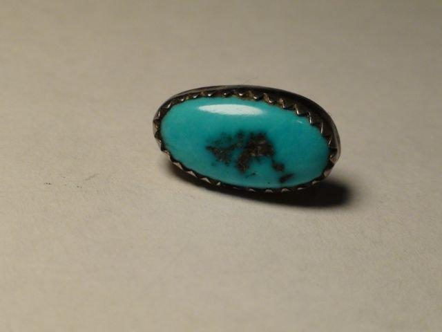 Native American Navajo Sterling Turquoise Earrings - 3