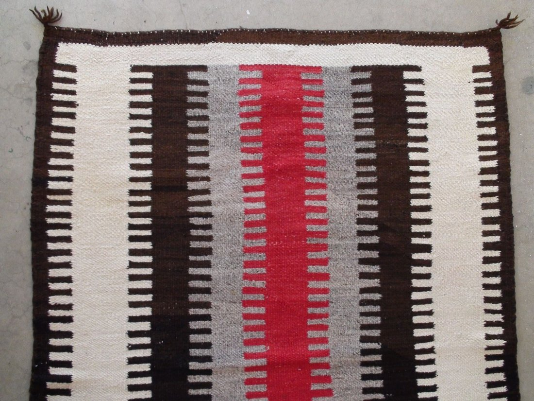 Antique Native American Navajo Rug Blanket - 2