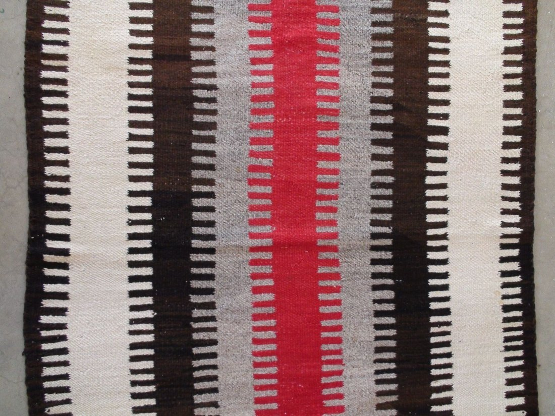 Antique Native American Navajo Rug Blanket - 3