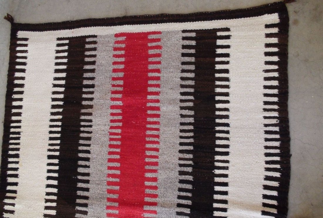 Antique Native American Navajo Rug Blanket - 4