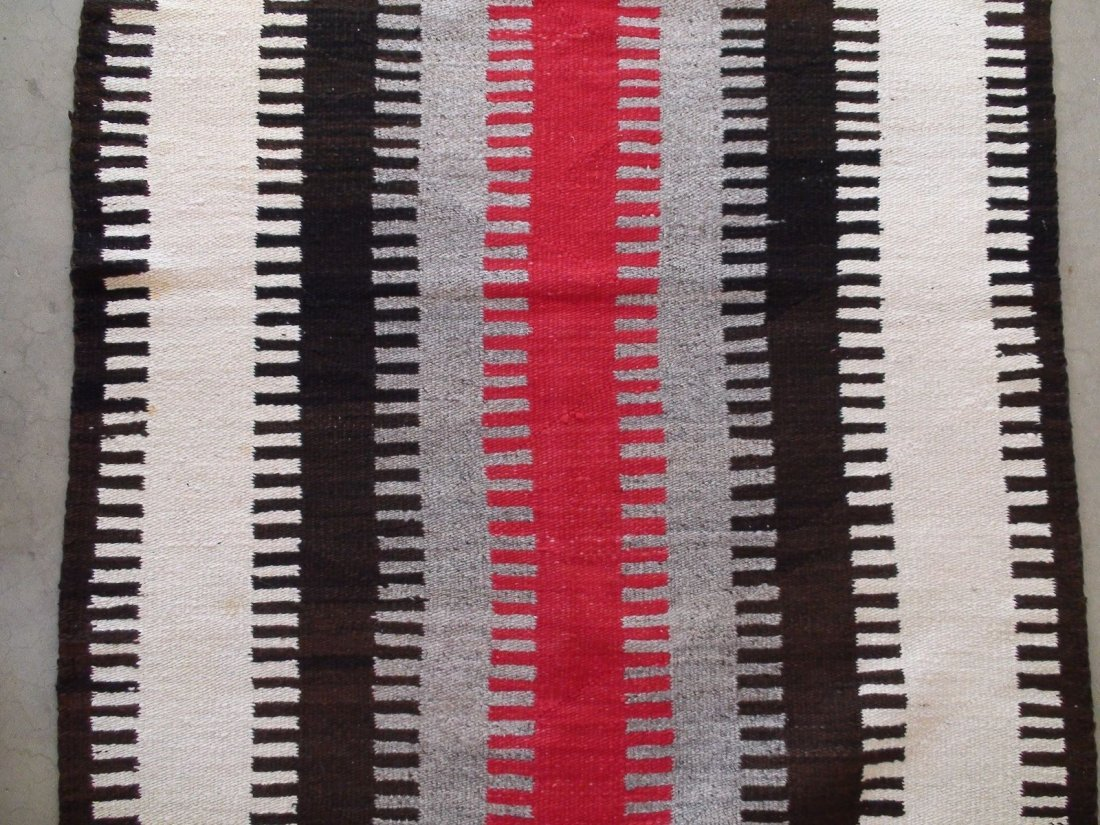 Antique Native American Navajo Rug Blanket - 7