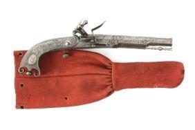 A rare flintlock pistol