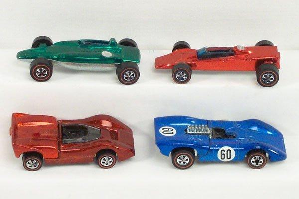 17: 4 Hot Wheels Red Line McLaren Ferrari Shelby