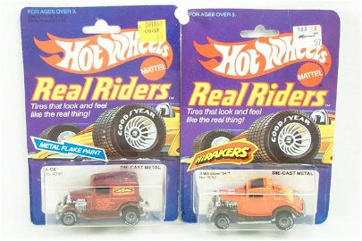 28: 2 Hot Wheels Real Riders A-OK & 3 Window 34