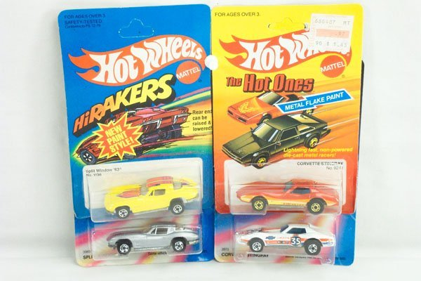 805: 4 Hot Wheels Chevy Corvette Variations