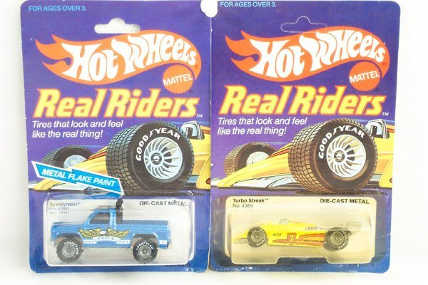 809: 2 Hot Wheels Real Riders Bywayman & Turbo Streak