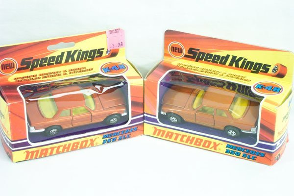 816: 2 Matchbox Super Kings SK-48 Mercedes Variations