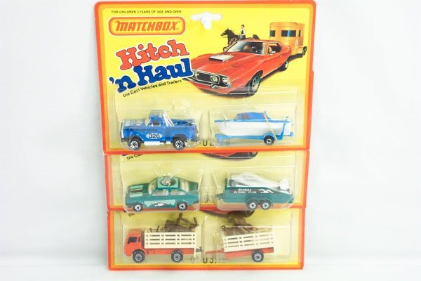 818: 3 Matchbox 2-Pack Incl. Glider Transport & Truck