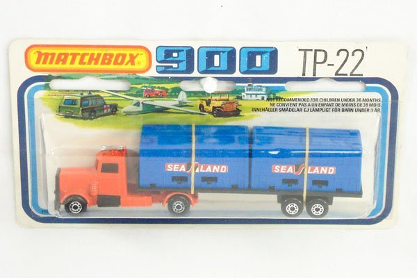 822: Matchbox 2-Pack TP-22 Sealand Container Truck
