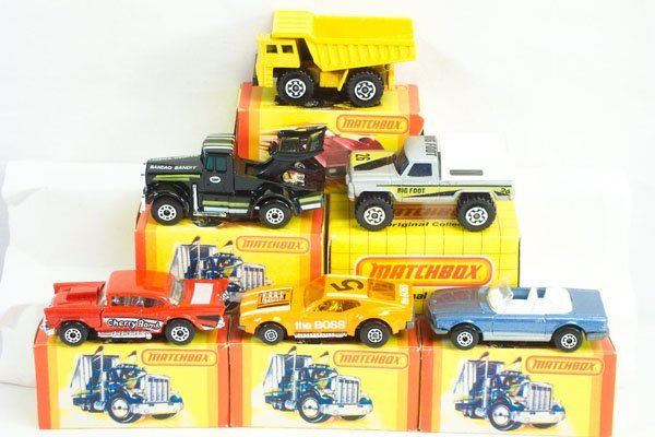 824: 6 Matchbox Lesney S/F Incl. Mustang  & 57 Chevy