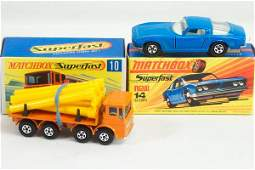 855 2 Matchbox Lesney SF 10 Pipe Truck  14 Iso Grifo