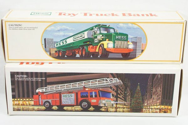 2: 3 Hess Toy Models 1984 Tanker 1986 Fire Truck