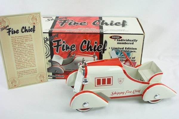 7: 1:3 Scale Xonex Skippy Fire Chief Pedal Car Boxed