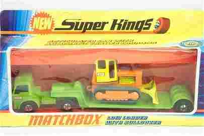 295: Matchbox Superkings SK-17 Low Loader & Bulldozer