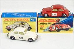 353: 2 Matchbox S/F 15-A VW Volkswagen Sedan