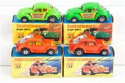 404: 4 Matchbox S/F 31 Volks Dragon & 43 Dragon Wheels