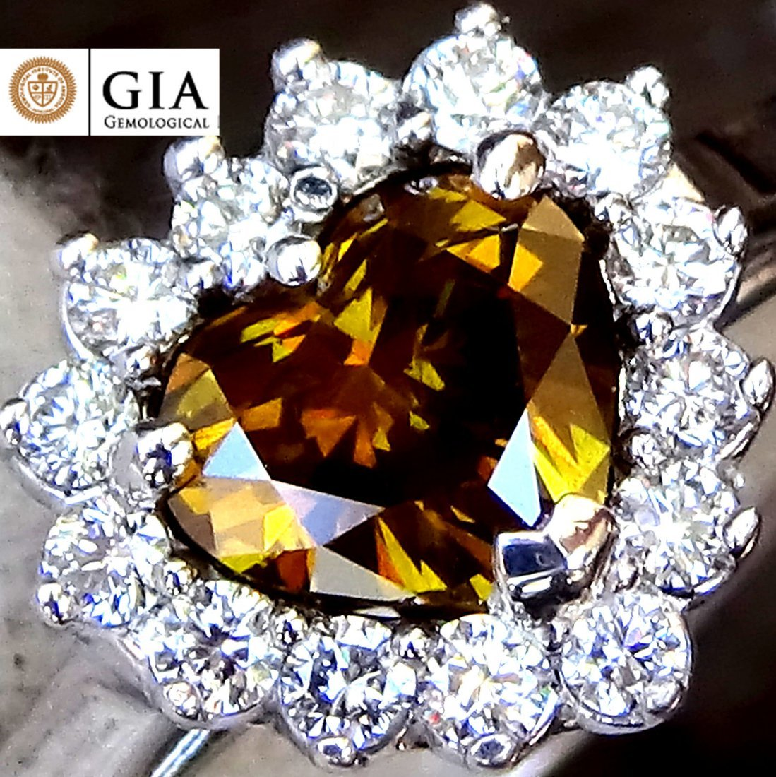 1.00ct Fancy Yellow Diamond Ring 18k Gold GIA Cert