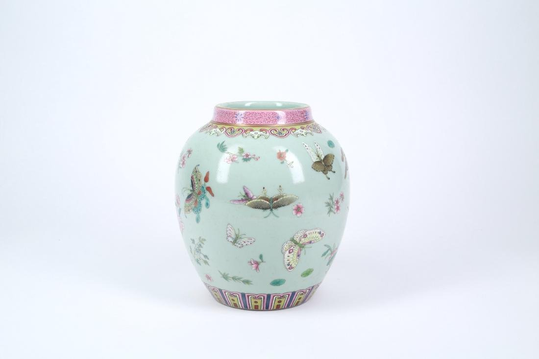 A Chinese Famille-Rose Porcelain Jar