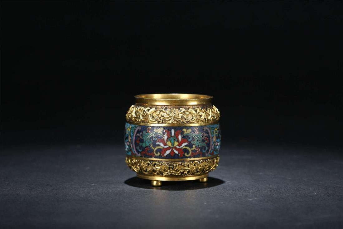 A Chinese Cloisonn Water Pot