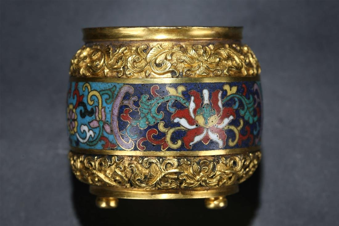 A Chinese Cloisonn Water Pot - 2