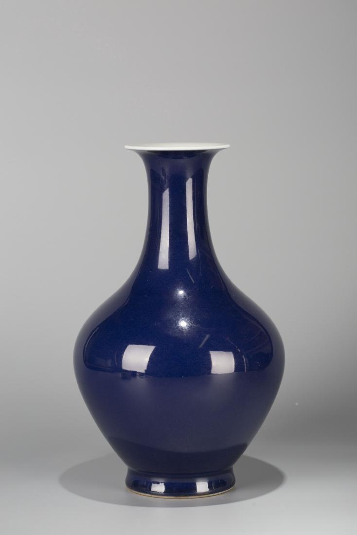 A Chinese Blue Glazed Porcelain Vase - 2