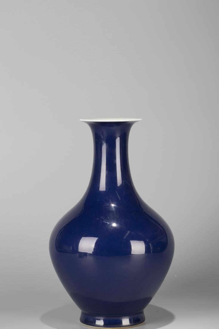 A Chinese Blue Glazed Porcelain Vase - 3