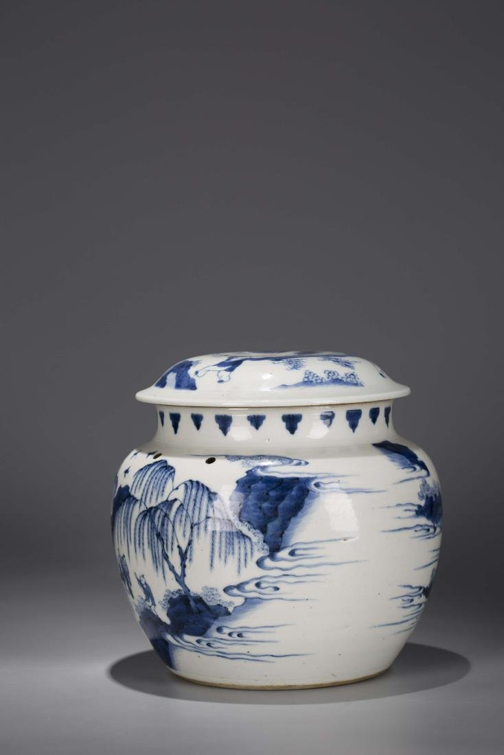 A Chinese Blue and White Porcelain Jar - 3